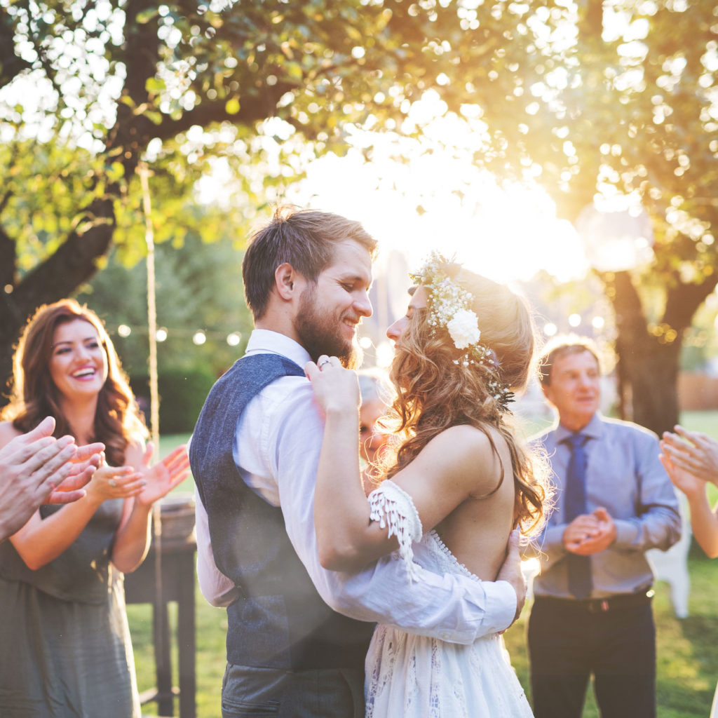 Bohemian bruiloft achtertuin