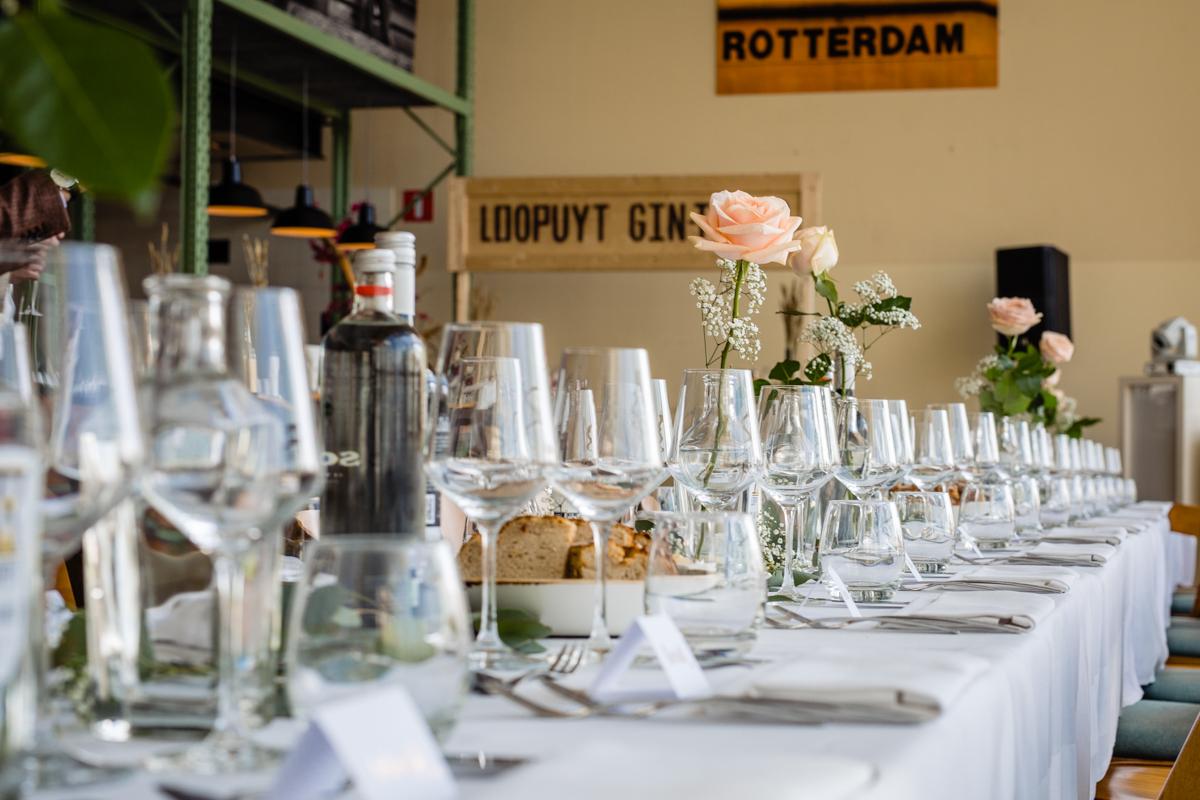 Bruiloft diner Café Rotterdam